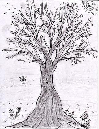 Baum im Winterschlaf © Martina Hildebrand